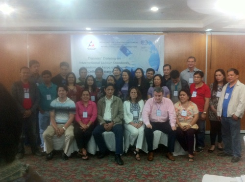 Training for freedom of association trainers in the Philippines